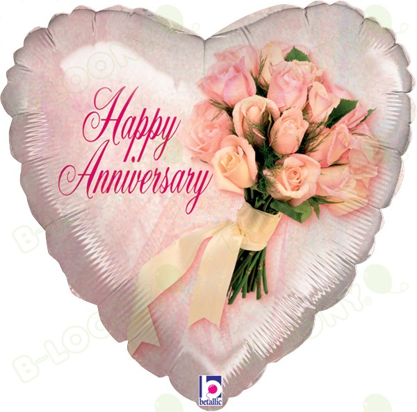 "18"" Foil Happy Anniversary Bouquet Balloon"