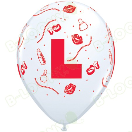 Hen Night L Plate Latex Balloons (25 Pack) (Balloons)