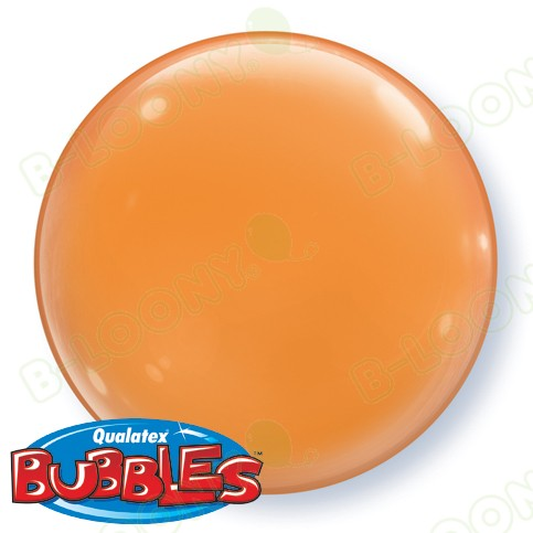 15 Inch Solid Colour Bubble Balloon Orange