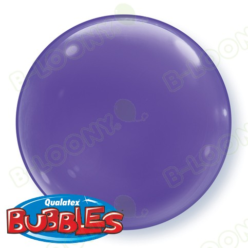 15 Inch Solid Colour Bubble Balloon Purple Violet