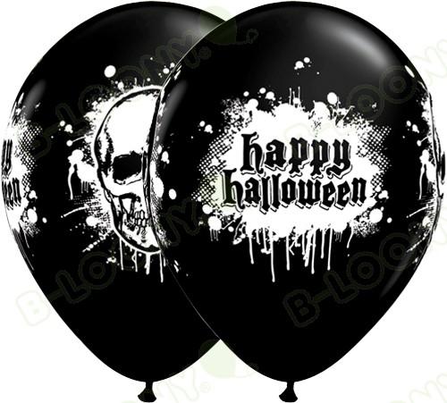 11 Inch Latex Balloons Halloween Haunted Skull