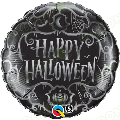 18 Inch Foil Balloon Halloween Goth Scroll