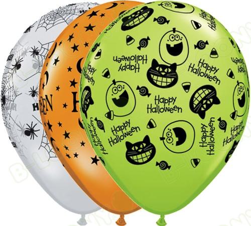 11 Latex Balloons Halloween Assorted