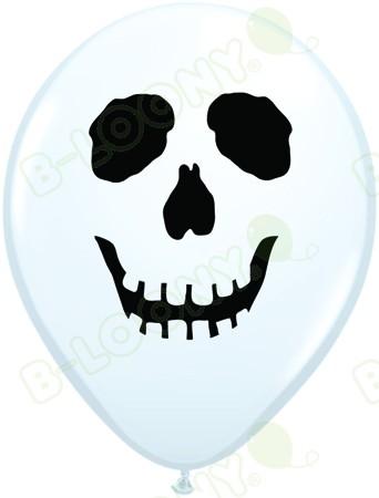 5 Inch Latex Balloons Skull Face