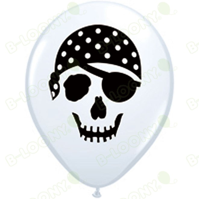 5 Inch Latex Balloons Pirate Skull