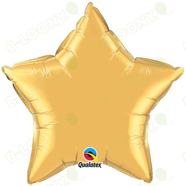 "Qualatex 36"" Foil Balloon Star Metallic Gold"