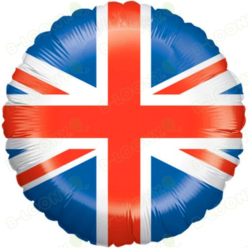 United Kingdom Union Jack Flag Foil Helium Balloon