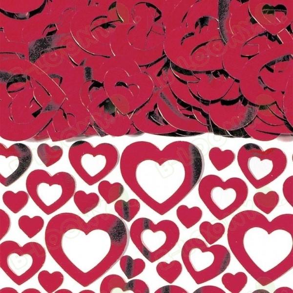 Amscan 14g Confetti Heart Shimmer Red Metallic