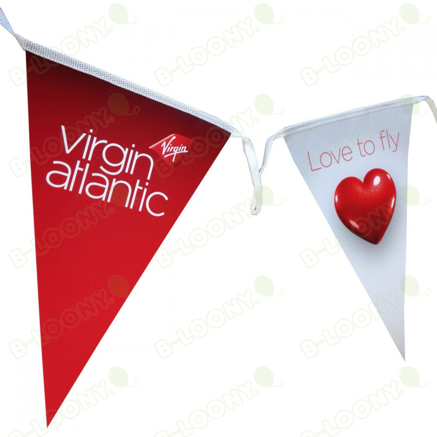 Indoor Paper Bunting for In-Store Promotions - Virgin Atlantic