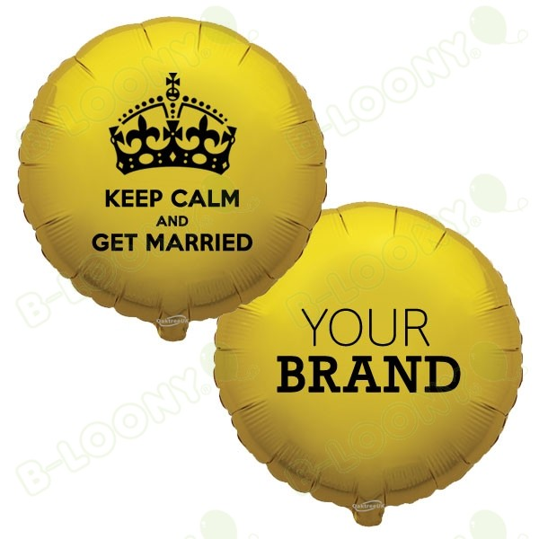 Branded Keep Calm Royal Wedding Foil Balloons