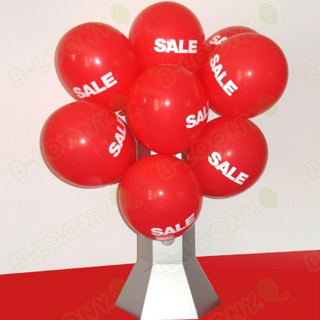 Mini Balloon Display Stand Loaded With Balloons