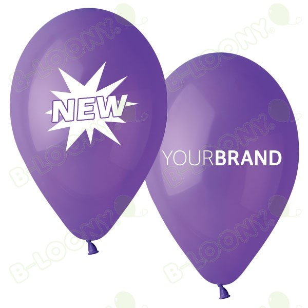 NEW Printed Latex Balloons Purple