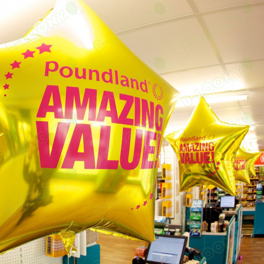 Point of Sale Balloons for Poundland