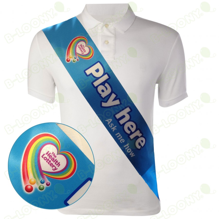 Digital Promotional Printed Sash for Health Lottery