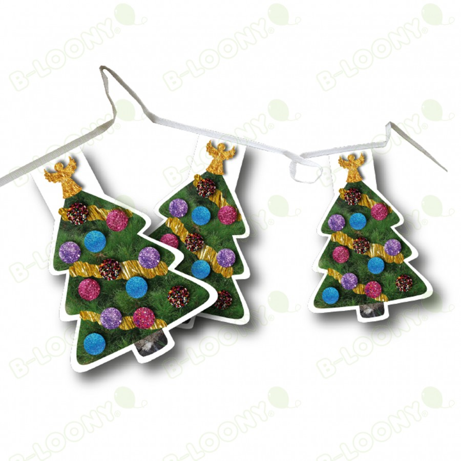 Christmas Tree Shape Bunting Pennants