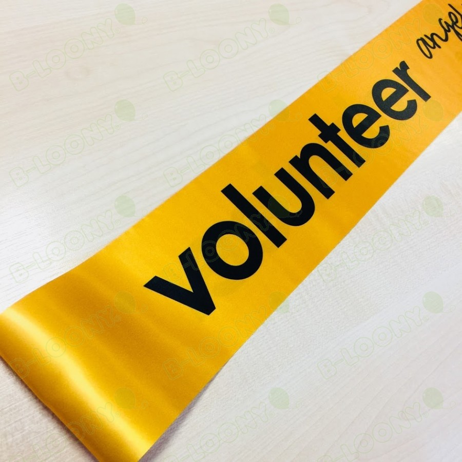 Volunteer Sashes - Custom Printed