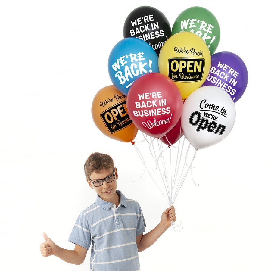 Welcome Back, We're Open Balloons