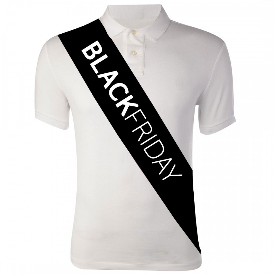Black Friday Custom Printed Promotional Sashes