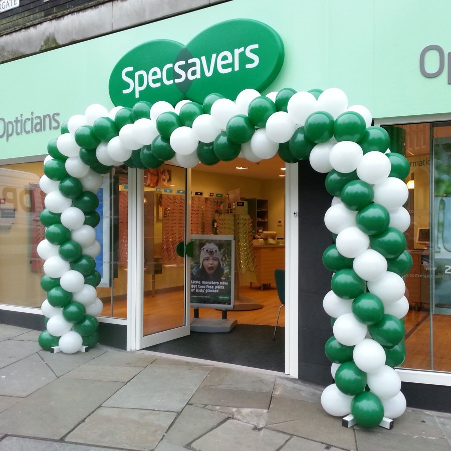 Goal Post Balloon Arch for Specsavers