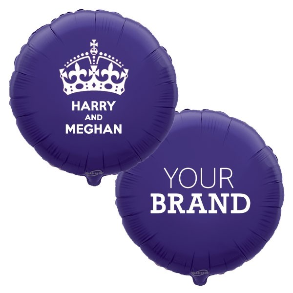 Branded Harry & Meghan Royal Wedding Foil Balloons