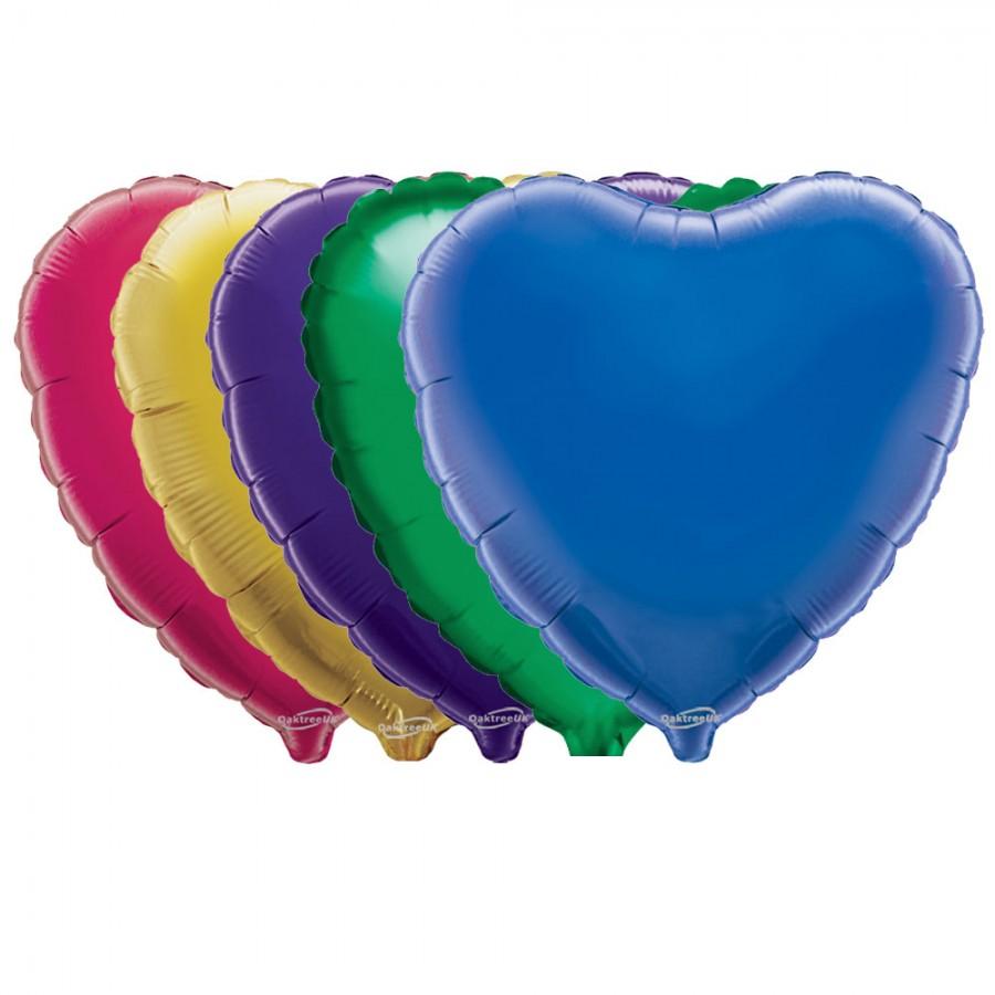 "Oaktree 18"" Heart Shaped Foil Balloons"