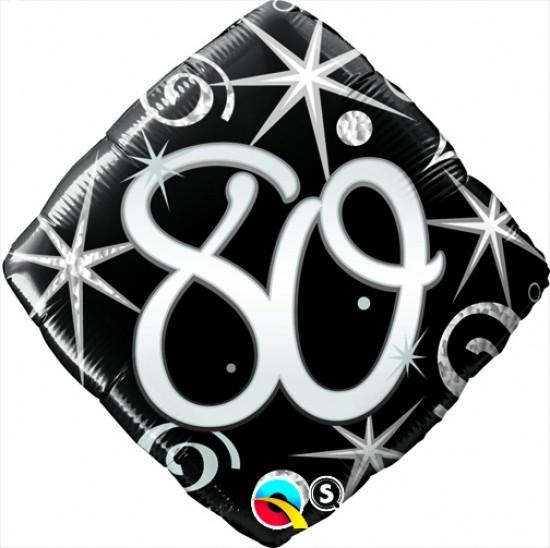 "Foil 18"" Elegant Sparkles & Swirls 80 Helium Balloon"