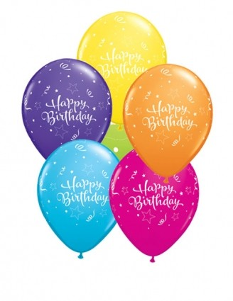 """11"""" Shining Star Latex Birthday Balloons"""