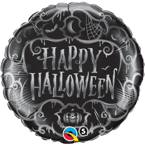 18 Inch Foil Balloon Halloween Goth Scroll