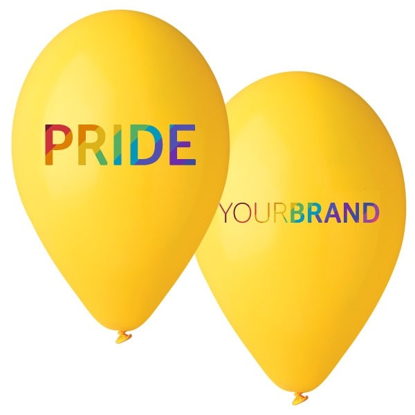 Pride Custom Printed Latex Balloons Yellow
