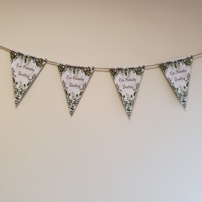 Eco Friendly Threaded Wool & Paper Promotional Bunting