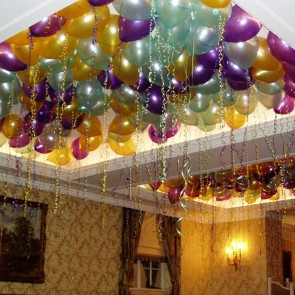 Dance Floor Ceiling Fill with Latex Balloons