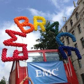 Embrace Bus Balloon Sculpture by B-Loony Ltd