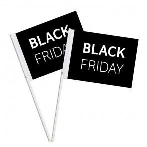 Black Friday Custom Printed Paper Handwaving Flags