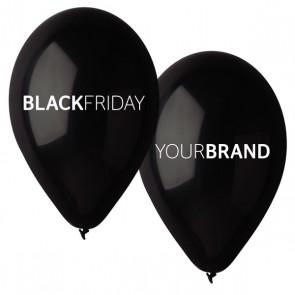 Black Friday Custom Printed Natural Rubber Balloons