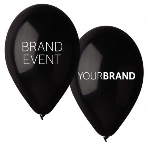 Brand Event Printed Latex Balloons Black