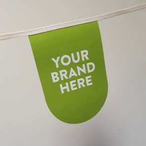 Eco Friendly Stitched Cotton & Paper Promotional Bunting