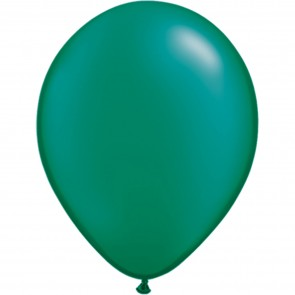 "5"" Latex Balloon Pearl Emerald Green (Pack of 100)"