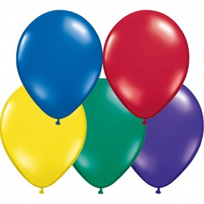 "5"" Latex Balloon Radiant Jewel Assorted (Pack of 100)"