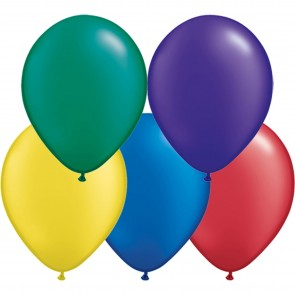 "5"" Latex Balloon Radiant Pearl Assorted (Pack of 100)"