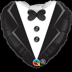 """Qualatex 18"""" Foil Balloon Wedding Tuxedo (Black and White)"""