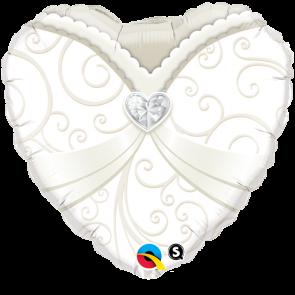 "Qualatex 18"" Foil Balloon Wedding Gown Dress"