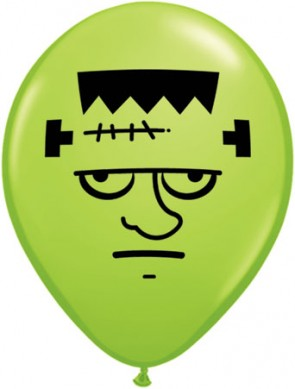 5 Inch Latex Balloons Frankenstein Face