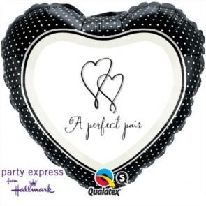 """Qualatex 18"""" Foil Balloon A Perfect Pair Front (Hallmark)"""