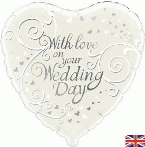 """Oaktree 18"""" Foil Balloon With Love On Your Wedding Day"""