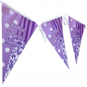 Custom Printed, Knitted Polyester Bunting
