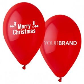 Merry Christmas Printed Latex Balloons