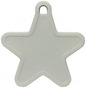 White Plastic Star Handheld Balloon Weight