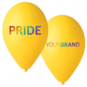 Pride Custom Printed Latex Balloons Yellow