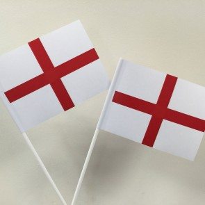 St George Cross England Hand Waving Flags