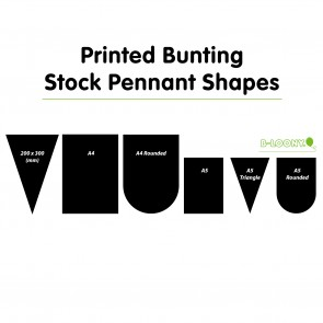 Synthetic Printed Paper Bunting